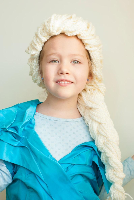 Crochet pattern Elsa hair  wig to dress up  Frozen inspired image 0