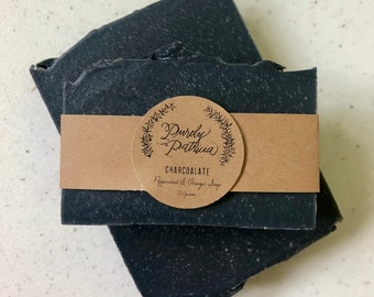 Charcoalate | Peppermint & Orange Activated Charcoal Soap | Purely Patricia | Handmade | All Natural | Vegan