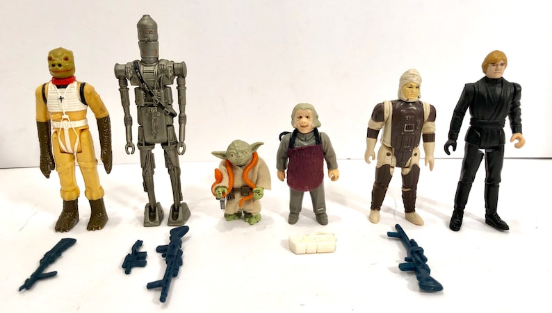6 Vintage Star Wars Empire Strikes Back Action Bossk Ig88 Ugnaught Bounty Hunter Figures Loose But Complete Afa Style Jedi Instant