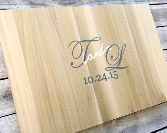 Wedding Guest Book Sign, Rustic Wood Guestbook Alternative, Wooden Sign Board with Decorative Pen