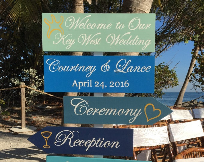 Welcome Wedding Sign, Beach Wedding Decor, Shoes Optional Reception Sign