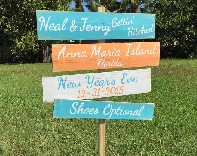 Shoes Optional Beach Wedding Sign, Wood Wedding Gift, Rustic Wedding Decor, Nautical Wedding