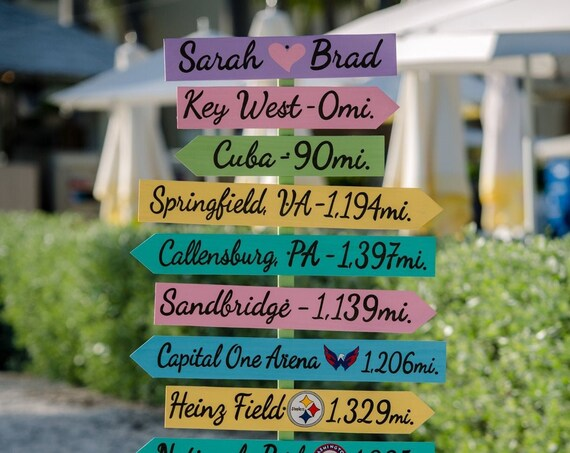 Destination Wedding sign wood. Tropical decor Directional sign. Florida Wedding Gift