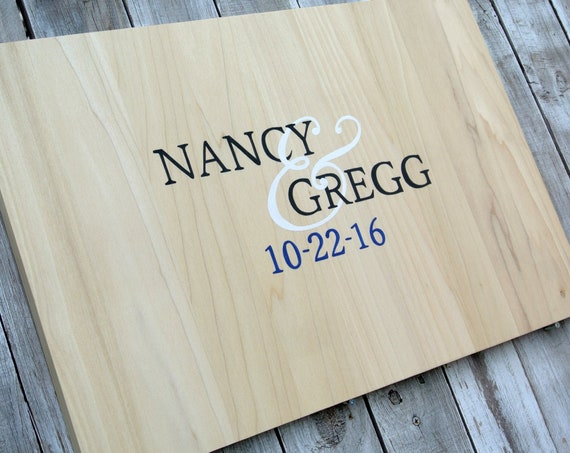Wedding Guest book Alternative Wood Sign Comes with matching pen