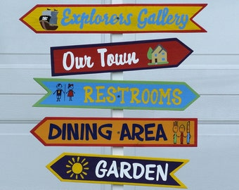 Funny directional signs wood. Gift for family and Friends. Garden decor