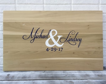 Newlywed  Gift Sale!!! Wedding Guestbook board with Pen. Wood Guest book Idea, Guest Book Alternative Wedding Gift