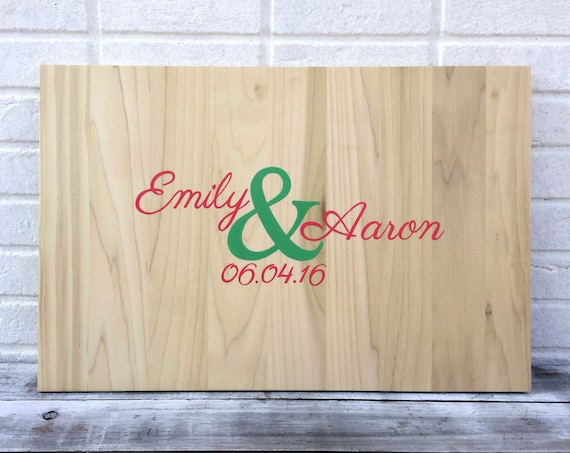 Newlywed Christmas Gift Wedding Guest Sign Board, Rustic Guestbook Alternative, Wooden Sign Guest Book Ideas