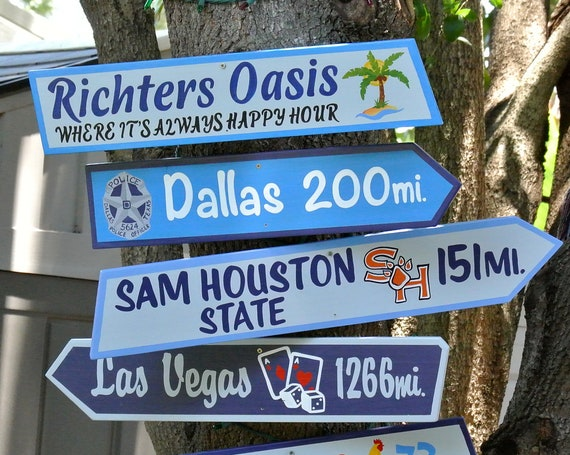 Funny Direction signs for Pool deck decor. Destination signs wood for pool deck decor. Gift for Mom