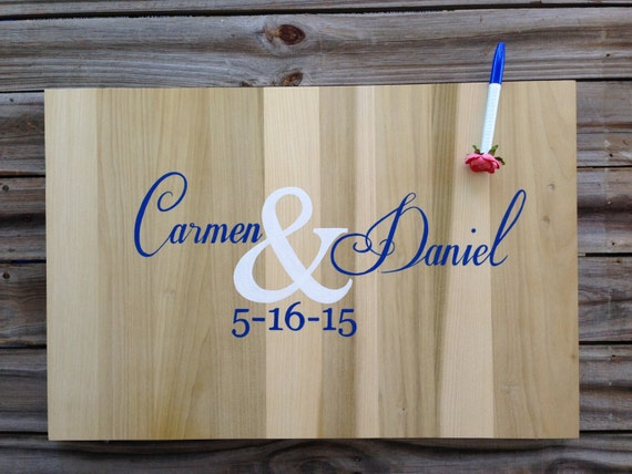 Wedding Guest book idea Wood sign Guestbook Alternative, Unique Guest book idea with Matching Pen