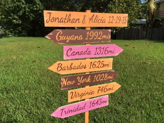 Christmas Holiday gift for couples, Rustic Directional Sign, Destination Signage for Wedding, Housewarming Gift Idea, Yard Wood Garden Sign