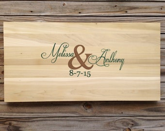 Wedding Guest book alternative wood sign. Rustic Guestbook sign in board