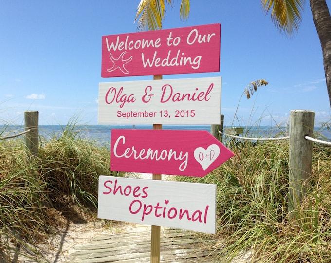 Welcome Wedding Sign, Beach Wedding decor Gift for couple