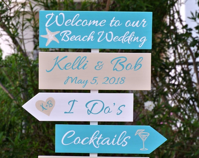 Personalized Wedding welcome sign wood. Beach and Tropical wedding decor. Spread the love ceremony decor.  Wedding 2019