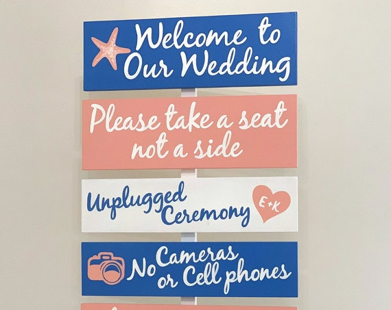 Unplugged Ceremony Sign, Pick a Seat not a Side, No Cameras or Cell Phone Wedding sign