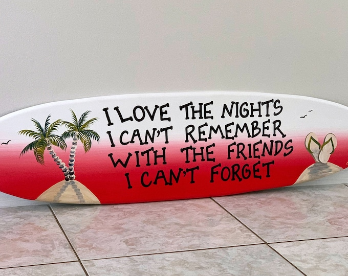 Surfboard Wall Art, Best Friends Gift Man, Tropical decor for Beach House