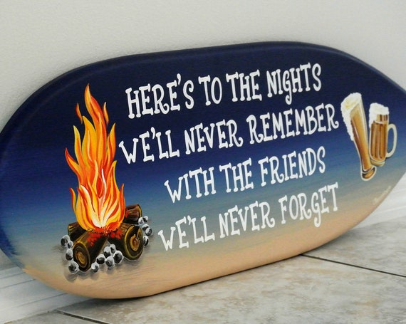 Fire pit wood sign, Pool deck decor, Surfboard wall art, Fire pit sign, Gift for Best friend.