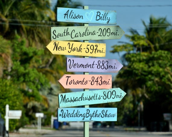 Wedding direction Beach Sign Wood, Ceremony decor. Gift for couple