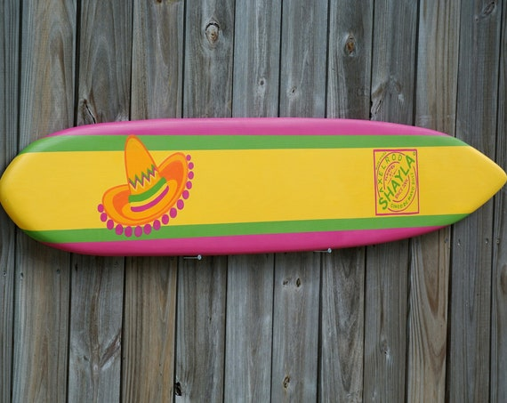 Christmas Cinco De Mayo Decorations, Custom Party Surfboard wood sign. Surfboard Decor. Surfboard Wood Sign