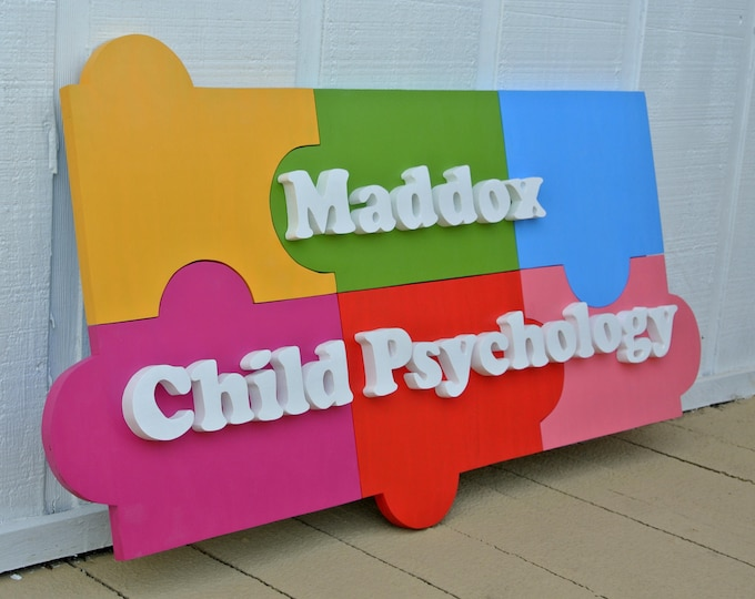 3D Puzzle Wood Business sign. Wooden puzzles. Custom Company Name Logo Sign. Wooden outdoor company sign.