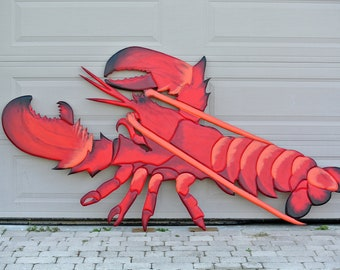 Red Lobster Decor Restaurant Wall Art Wood. Seafood Restaurant Business Sign
