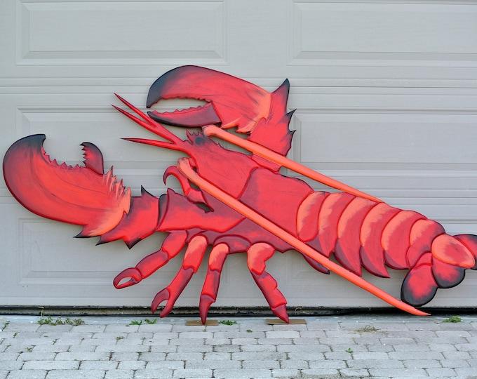 Red Lobster Decor Restaurant Wall Art Wood. Seafood Restaurant Business Sign