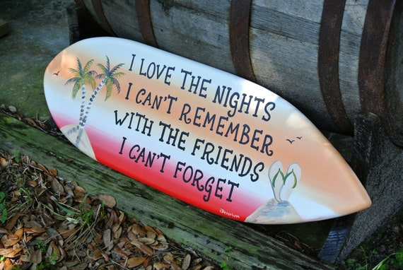 Friends Gift Surfboard decor for Pool deck. Home Bar wall art Surfboard wood. Gift for Patio Porch
