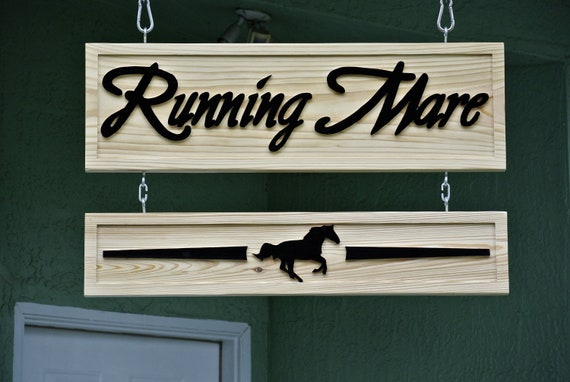 Ranch Wood Sign Decor. Welcome Entryway wooden sign. Personalized.