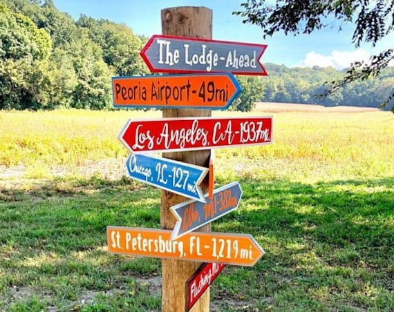 Christmas Our Family gift. Directional Yard Sign Wood. New Home Housewarming gift idea. Wood yard decor
