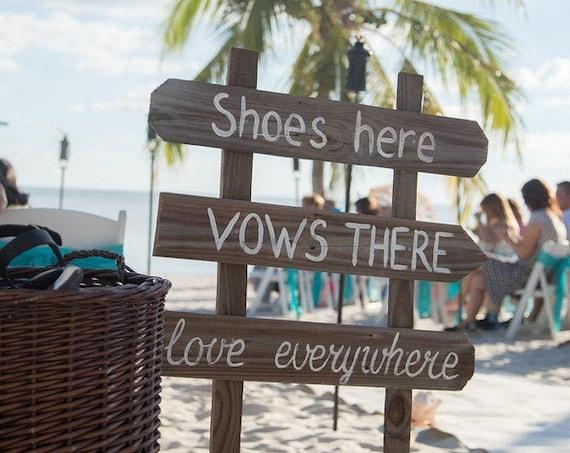 Rustic Wedding Vows sign Wood. Eco-Friendly Beach Wedding decor.