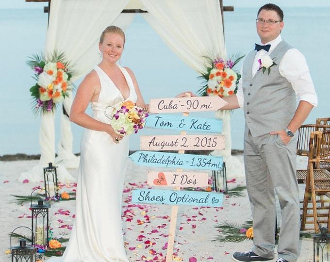 Wedding Beach Sign, Best Day Ever, I Do's Shoes Optional Signage, Destination Wedding Gift, Rustic Beach Wedding Decor
