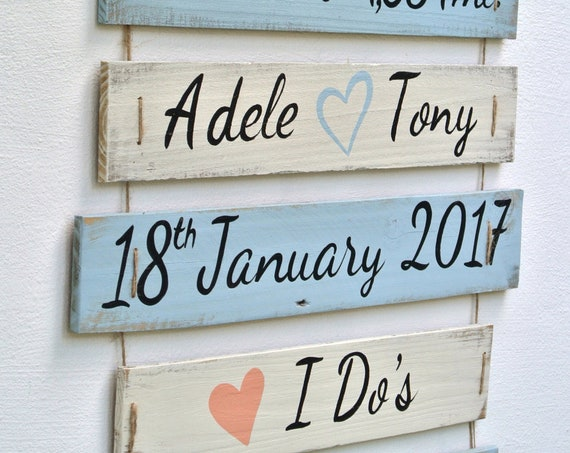 Wedding I Do's sign on Rope. Beach wedding decor. Gift for newlywed for Christmas