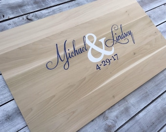 Newlywed  Gift New Wedding Guest book Alternative, Wooden Guestbook wood sign with Pen. Signature board for Wedding gift idea
