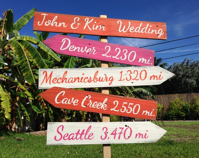 Wedding welcome sign. Wood Directional Sign, Outdoor Wedding Decoration, Rustic Ceremony Sign, Gift for Family / Friends