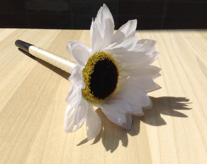 Sharpie Pen for Wedding Guestbook  Flower Sharpie Pen  custom pen