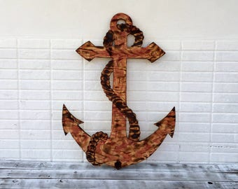 Rustic Anchor Wood sign Gift for Dad. House Decor welcome Sign. Bar decor Pool deck decoration.