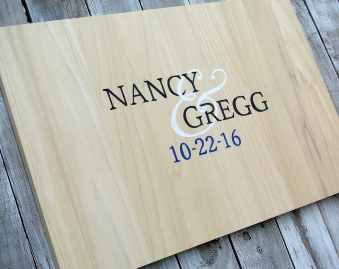 Wedding Guest book idea/Rustic Guestbook Alternative Wood Sign/ wedding guestbook gift. Comes with matching pen!