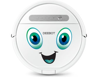 Decal sticker for robot vacuum cleaner, laptop
