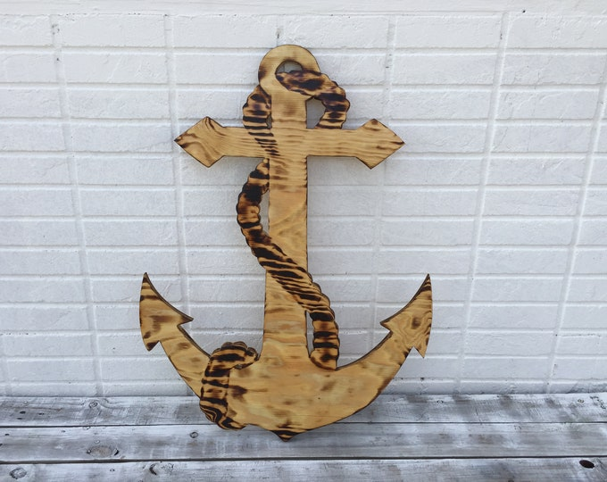 Wedding Anchor Guest book Burnt wood sign. Guestbook alternative. Rustic Wedding Decor.