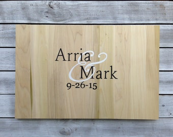 Newlywed  Gift Rustic Guest book idea, Wedding Guestbook Alternative Wood Sign with Matching Pen. Wedding gift idea