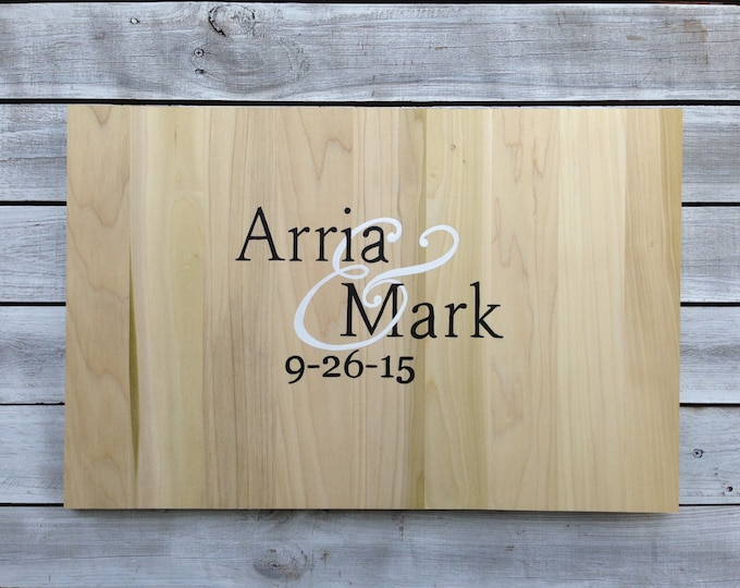 Rustic Guest book iDea, Wedding Guestbook Alternative Wood Sign with Matching Pen. Wedding gift idea