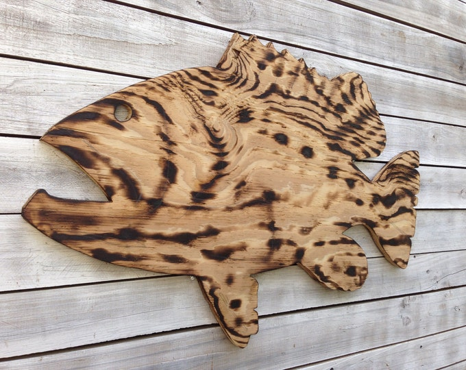 Large Goliath Grouper Wooden Sign, Outdoor Fish Beach house decor, Wood Fish wall art. Housewarming gift idea.