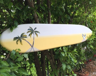 Palm Tree Wedding guest book alternative. Event surfboard sign. Surboard Wood Sign
