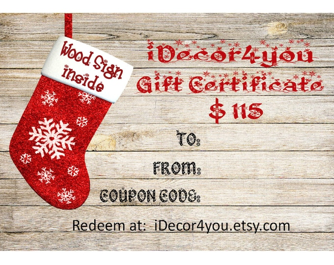 iDecor4you Gift Card for Custom Wood Sign Gift Card for Her, Gifts for Co-Workers, Easy Christmas Cards