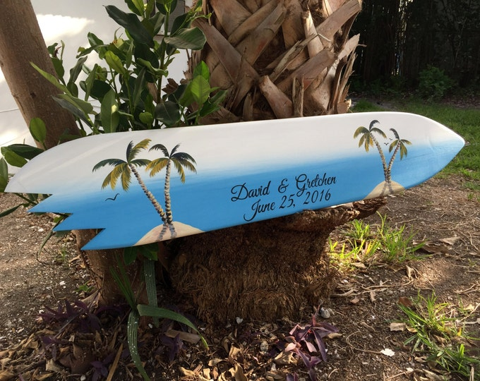 Surfboard Guest Book Alternative, Wood  Guest book Wedding Sign, Beach Wedding Decor, Nautical Wedding Gift Idea