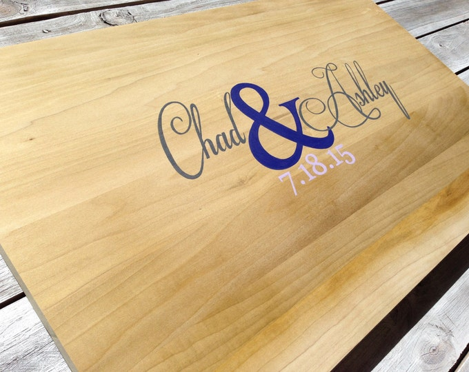 Wedding Guest Book Sign, Rustic Wood Guestbook Alternative, Wooden Sign Board