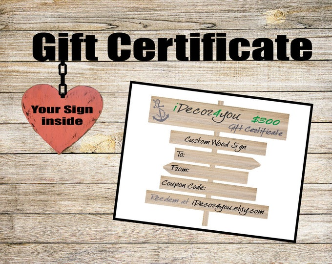 Last Minute Christmas Gift Certificate Printable Holiday Gifts Card for Her, Gifts for Co-Workers, Easy Father's Day Cards