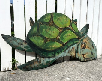Green Turtle Gift for Mom. Outdoor wall decor, New Home Housewarming Gift