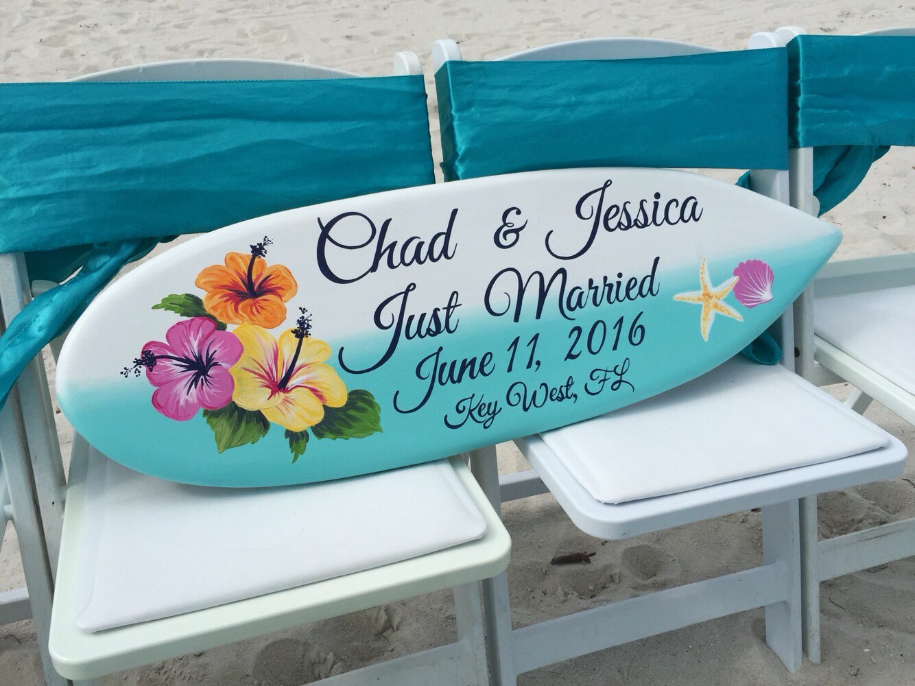 Hawaiian Wedding Gift Ideas: Beach Wedding Decor Hawaiian Wedding Sign Just Married