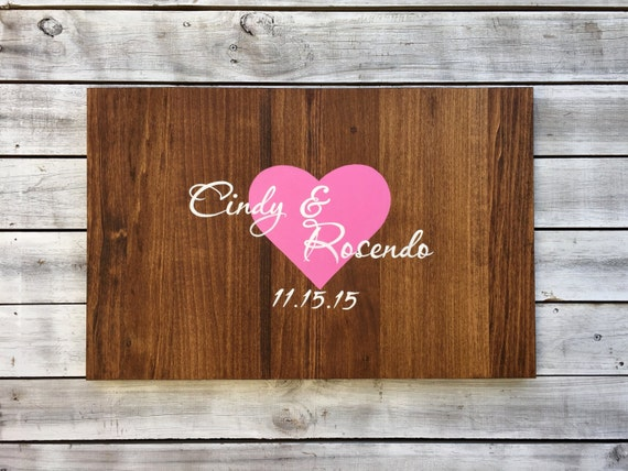 Wood Guestbook for wedding, Guestbook Ideas, Guest Book sign gift for couple
