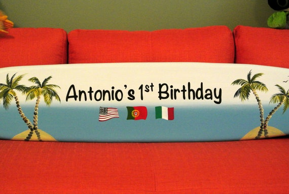 1st birthday sign in board for boy girl. Birthday gift for Mom.
